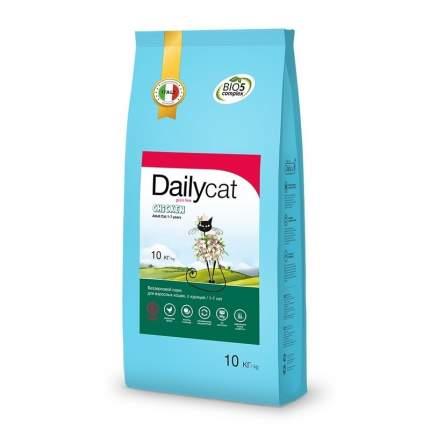 Сухой корм для кошек Dailycat Grain Free Adult, курица, 10кг