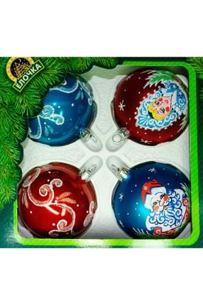 Набор шаров на ель Елочка Новогодняя сказка C1302 7,5 см 4 шт.