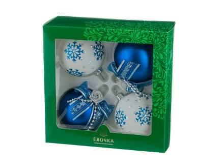 Набор шаров на ель Елочка Романтика C1530 7,5 см 4 шт.