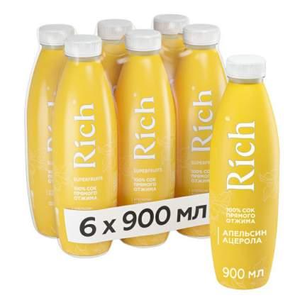 Сок Rich апельсин-ацерола 900 мл