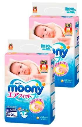 Подгузники MOONY NB (0-5 кг), 2x90 шт.