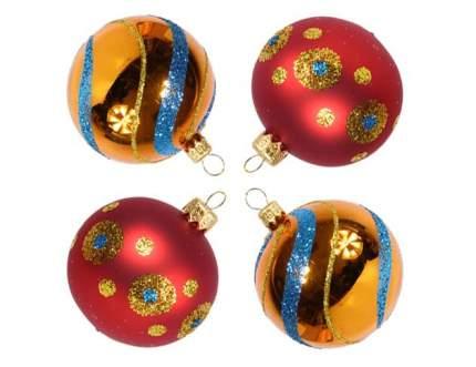 Набор шаров на ель Елочка Фейерверк C1120 6 см 4 шт.