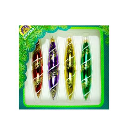Набор елочных игрушек Елочка Радужный C1182 15 см 4 шт.