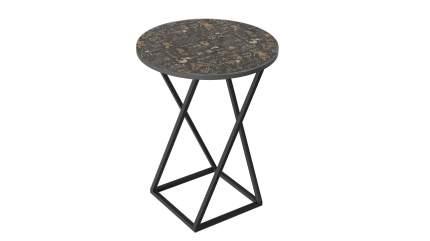 Стол со стеклянной поверхностью ТриЯ (Черный/Стекло с рисунком Coffe) ДП 1-03-05