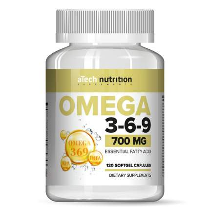 Омега жиры aTech Nutrition Omega 3-6-9 700 мг капсулы 120 шт.