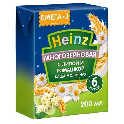 Каша молочная Heinz Готовая многозерновая липа - ромашка с омега 3 с 6 мес. 200 г, 12 шт.