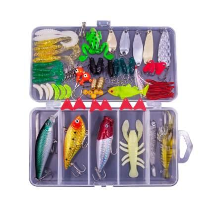 Набор для рыбалки, 78 в 1, цвета микс, 17,5х9,5х3 cм, Рыбиста RB-SET-02