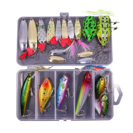 Набор для рыбалки, 38 в 1, цвета микс, 17,5х9,5х3 cм, Рыбиста RB-SET-09