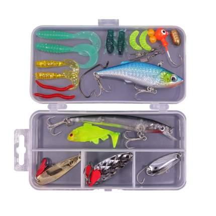 Набор для рыбалки, 24 в 1, цвета микс, 13х6,5х2,5 cм, Рыбиста RB-SET-01