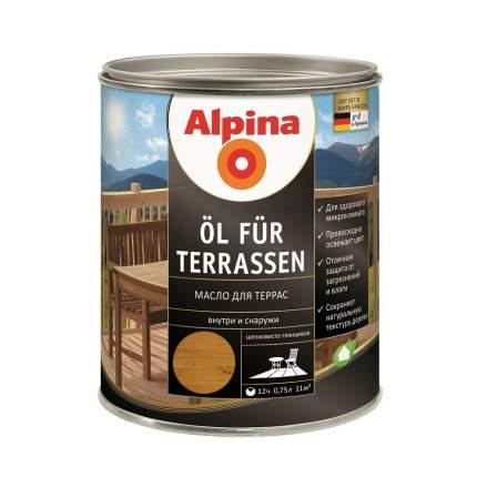 Масло для террас и садовой мебели Alpina Oel fuer Terrassen Mittel средний тон 0,75 л
