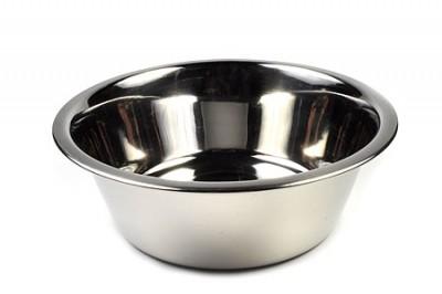 Одинарная миска для собак Beeztees, сталь, серебристый, 1.8 л