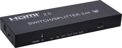 Разветвитель Vconn HDMI 2х4 + Audio Ultra HD v2.0