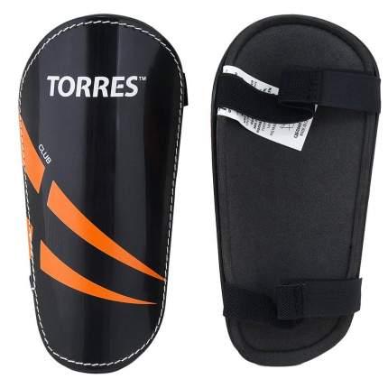 Щитки футбольные Torres Club, XS, черный, тренировочный