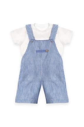 Комплект: песочник, футболка детский RBC, цв. белый, р-р 80