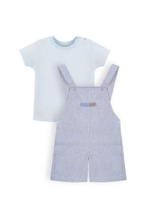 Комплект: песочник, футболка детский RBC, цв. голубой, р-р 80