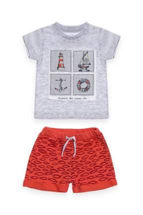 Комплект: футболка, шорты детский RBC, цв. красный, р-р 86