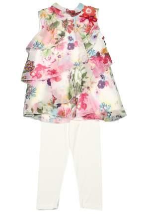 Комплект: леггинсы, блузка детский Luna, цв. розовый, р-р 140