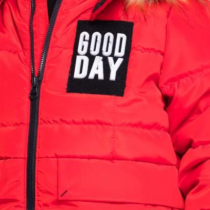 Комплект верхней одежды BOOM, цв. красный; черный р. 86