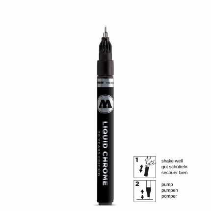 Маркер Molotow Liquid Chrome 1мм серебристый