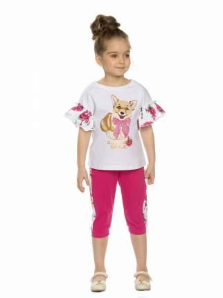 Комплект: футболка, бриджи детский Pelican, цв. белый, р-р 98