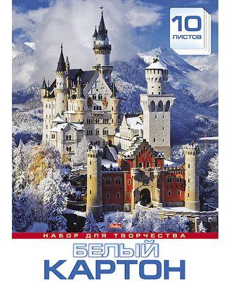 """Картон белый """"Замок в горах"""", А3, 10 листов"""