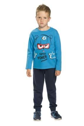 Комплект: толстовка, брюки детский Pelican, цв. синий, р-р 98