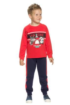 Комплект: лонгслив, брюки детский Pelican, цв. красный, р-р 98