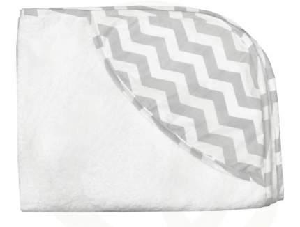 Полотенце-уголок Топотушки серый зигзаг 100x75 см М5-8