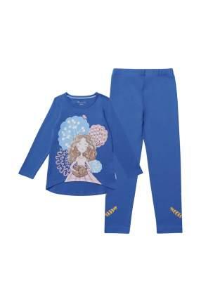 Комплект: джемпер, брюки детский Kogankids, цв. синий, р-р 116
