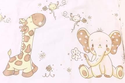 102 Охранный бампер Жираф и Слоненок 360x30