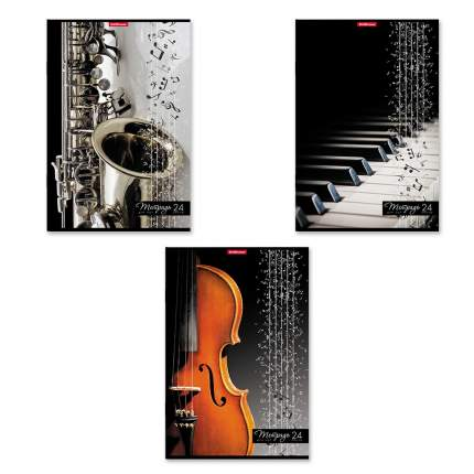 Тетрадь для нот на скобе ErichKrause Мелодия, А4, 24 листа, вертикальная ориентация