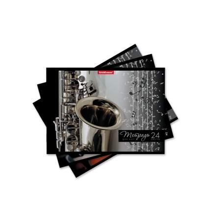 Тетрадь для нот на скобе ErichKrause Мелодия, А5, 24 листа, горизонтальная ориентация