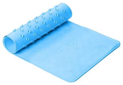 Антискользящий резиновый коврик для ванны ROXY-KIDS 34,5х76 см BM-34576-B голубой