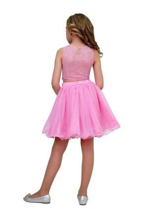 Комплект: топ и юбка детский Ladetto, цв. розовый, р-р 134