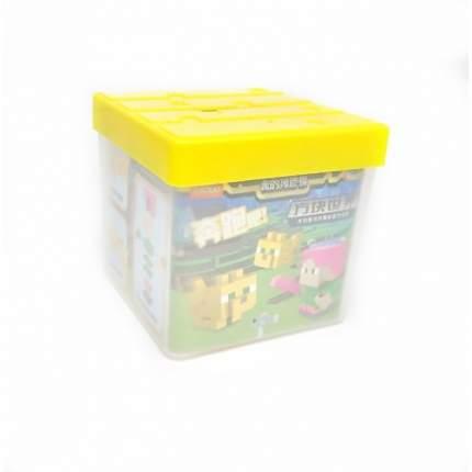 Набор фигурок-ластиков с копилкой Майнкрафт «Алекс и Оцелот», желтая 662-3A
