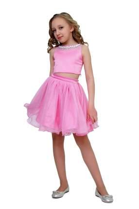 Комплект: топ и юбка детский Ladetto, цв. розовый, р-р 152