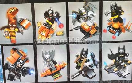 Набор 8 фигурок Бэтмен PRCK 64024 64024 Lele