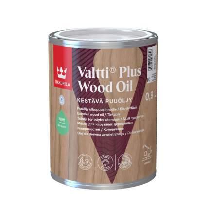 Масло защитное Tikkurila Valtti Plus Wood Oil для террас и мебели колеруемое 0,9 л