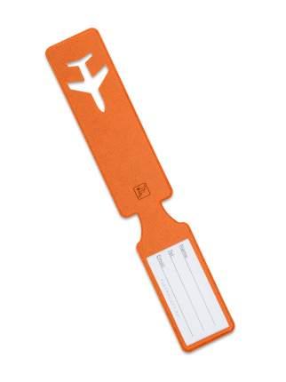 Багажная бирка начемодан / Бирка для багажа исумок всамолет Flexpocket оранжевая