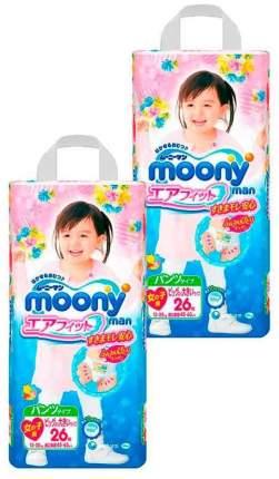 Подгузники-трусики MOONY для девочек (13-25 кг), 2x26 шт.