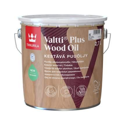 Масло защитное Tikkurila Valtti Plus Wood Oil для террас и мебели колеруемое 2,7 л