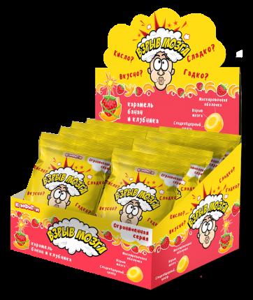 Карамель Взрыв мозга со вкусом банана и клубники 15 г