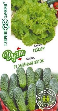 "Семена. Салат ""Гейзер"" (вес: 0,5 г) + огурец ""Зеленый поток"" (вес: 0,3 г)"
