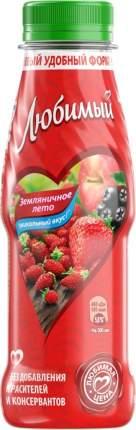 Напиток сокосодержащий Любимый Земляничное лето 300мл