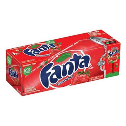 Газированный напиток Fanta  Strawberry 12 шт по 0,355 л (США)