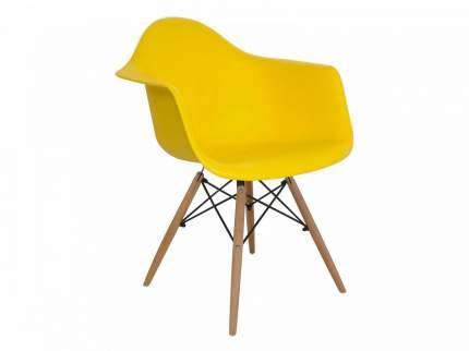 Стул ОГОГО Обстановочка! Spacer spacer_yellow, натуральный/черный/yellow