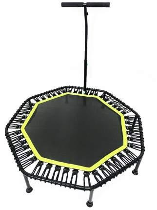 Батут каркасный восьмиугольный для фитнеса с ручкой URM, диаметр 122 см, зеленый