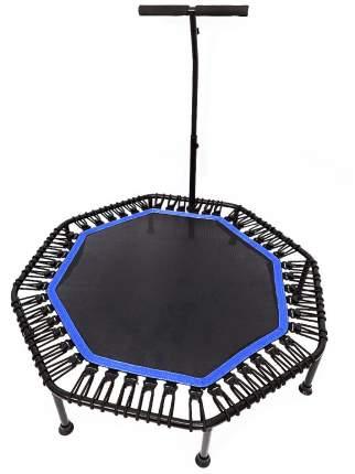 Батут каркасный восьмиугольный для фитнеса с ручкой URM, диаметр 122 см, синий