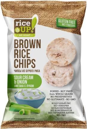Чипсы Rice Up из бурого риса со сметаной и луком 60г