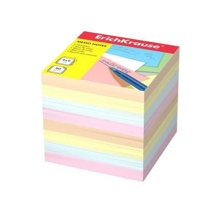Бумага для заметок ErichKrause, 90x90x90 мм, 4 цвета